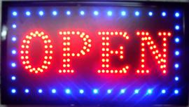 OPEN LED bord lamp verlichting lichtbak reclamebord #B15