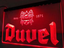 Duvel neon bord lamp LED 3D verlichting reclame lichtbak bier