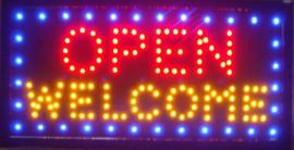 OPEN welkom lamp LED verlichting reclame bord lichtbak #C