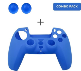 Silicone hoes skin case cover voor PS5 playstation 5 controller *blauw*