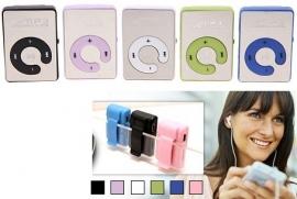 MP3 speler mini versie draagbaar sport micro sd + clip *5 kleuren*