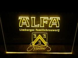Alfa neon bord lamp LED 3D cafe verlichting reclame lichtbak