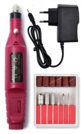 Nagelfrees nagel frees manicure pedicure elektrische vijl *donker roze*