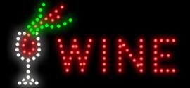 Wijn wine LED bord lamp verlichting lichtbak reclamebord #B6