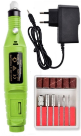 Nagelfrees nagel frees manicure pedicure elektrische vijl *groen*