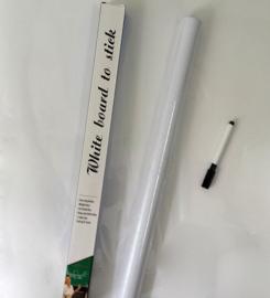 Krijtbord bord sticker muursticker deur whiteboard + KRIJT 45x200CM *WIT*