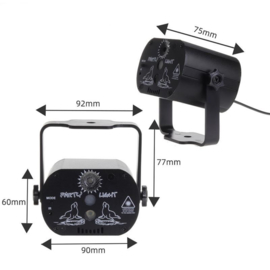 Discolamp discobal discoverlichting verlichting laser stroboscoop *60 patronen*