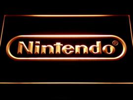 Nintendo game neon bord lamp LED 3D verlichting reclame lichtbak *rood*