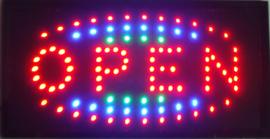 OPEN LED bord lamp verlichting lichtbak reclamebord #C12