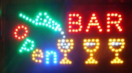 Bar drank cafe LED bord lamp verlichting lichtbak reclamebord #bar
