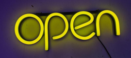 Open neon bord verlichting lamp licht kunststof buis 3D *geel*