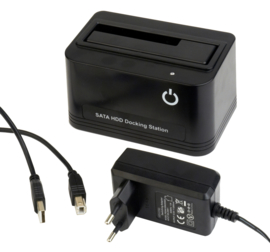 Docking station usb sata HDD SSD hardeschijf  2.5 + 3.5 inch usb 2.0