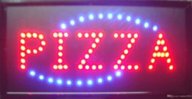 PIZZA LED bord lamp verlichting lichtbak reclamebord #B4