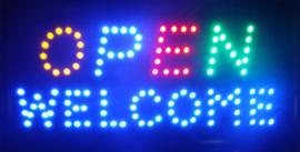 OPEN welkom lamp LED verlichting reclame bord lichtbak #A