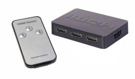 4 poort HDMI switch splitter hub verdeler + afstandsbediening