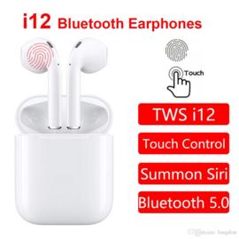 I12 + touchcontrol in-ear oortjes draadloos airpods alternatief