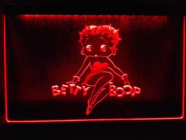 Betty Boop neon bord lamp LED verlichting reclame lichtbak XL *40x30cm*