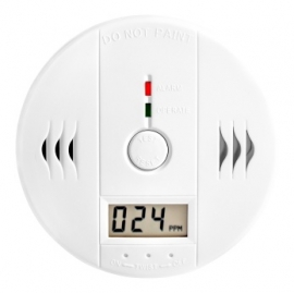 Koolmonoxide melder co2 gas alarm detector meter binnen + display