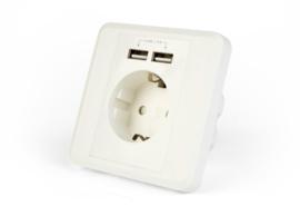 Inbouwstopcontact + USB