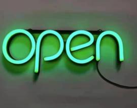 Open neon bord verlichting lamp licht kunststof buis 3D *groen*
