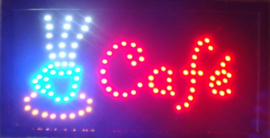 Cafe koffie lamp LED verlichting reclame bord lichtbak #L