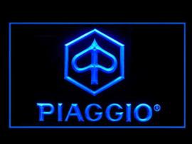 Piaggio neon bord lamp LED 3D cafe verlichting reclame lichtbak