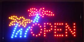 OPEN LED bord lamp verlichting lichtbak reclamebord #B7