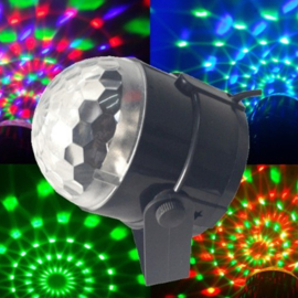 Crystal magic ball disco lamp rgb led discobol discolamp 180 graden