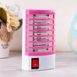 Anti muggenlamp muggen lamp stekker UV verjager vanger binnen *roze*