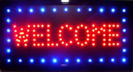 OPEN welkom lamp LED verlichting reclame bord lichtbak #G