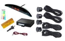 Parkeersensoren parkeer sensoren auto achter inbouw LED scherm *ZWART*
