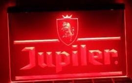 Jupiler neon bord lamp LED verlichting reclame lichtbak XL *40x30cm*