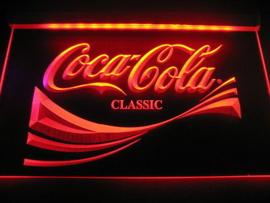 Coca cola neon bord lamp LED verlichting reclame lichtbak XL *40x30cm*