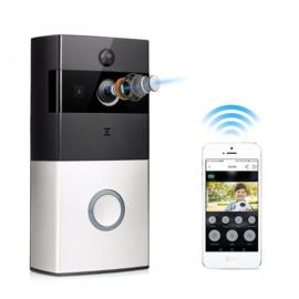 Wifi deurbel intercom video camera deur bel draadloos ring *ZILVER/ZWART*