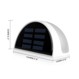 Buitenlamp buiten lamp led tuin solar lamp zonne energie schutting WIT