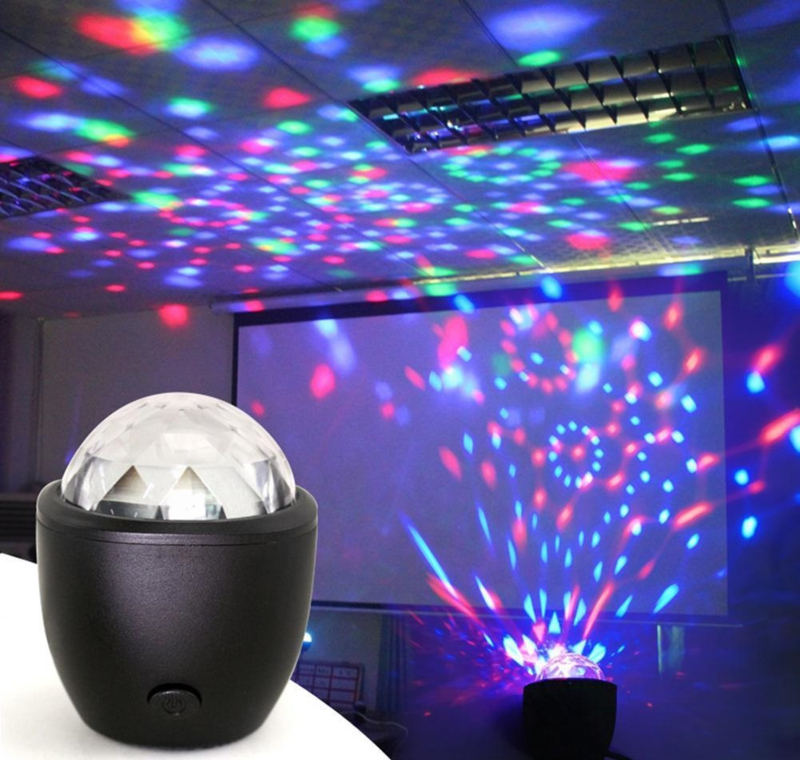 Discobal discobol disco lamp bol bal led verlichting feest RGB mini