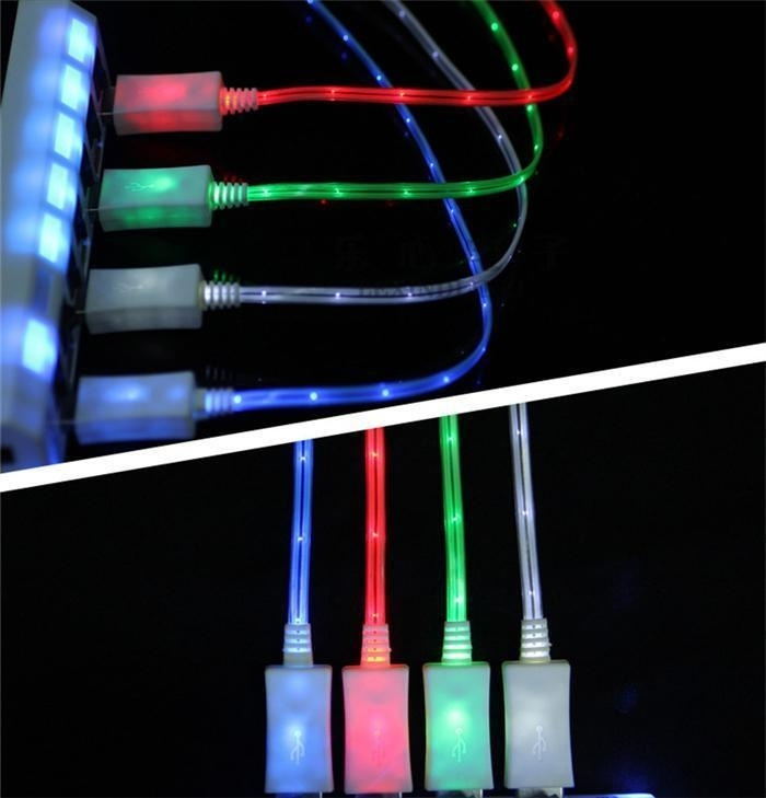 LED galaxy data kabel micro USB oplader laad + LED S20 S21 A51 A52