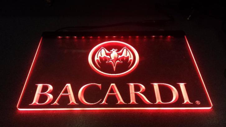 Bacardi neon bord lamp LED 3D verlichting reclame lichtbak