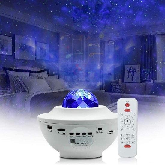 Galaxy sterren plafond projector nachtlamp sterrenhemel bluetooth muziek laser *WIT*