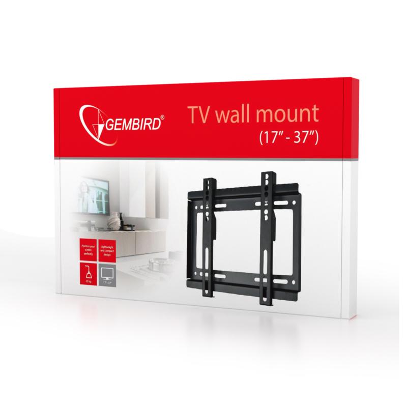 Gembird tv muurbeugel muur ophang beugel wand 17-37 inch