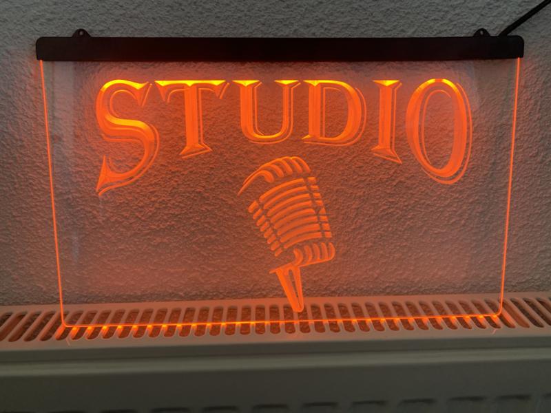 Studio microfoon neon bord lamp LED cafe verlichting reclame lichtbak