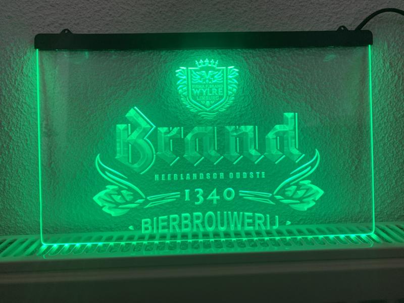 Brand bier neon bord lamp LED cafe verlichting reclame lichtbak