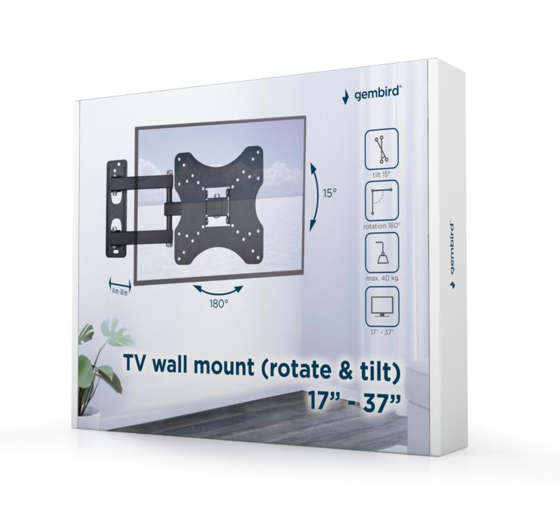 Tv muurbeugel muur beugel draai- en kantelbaar 17-37 inch