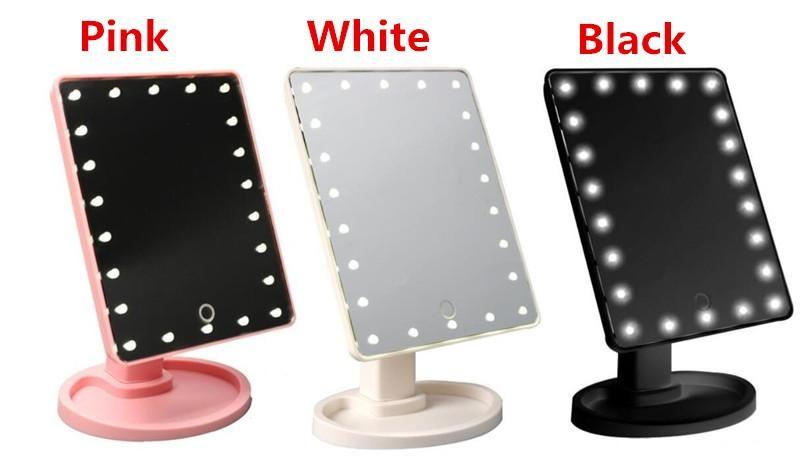 Make up spiegel +LED 360 graden makeup make-up verlichting *3 kleuren* #2