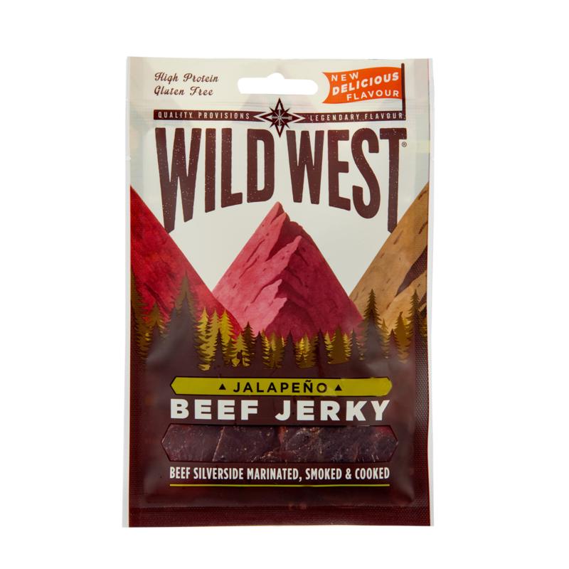 Beef Jerky Jalapeno 24 x 25 gram (24 halen, 22 betalen)