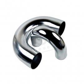Aluminium bocht 180° - 51 mm