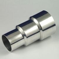 aluminium reducer 89mm naar 76mm naar 63 mm | grijs | hm 89/63