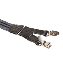 Hendrik bretels grijs met zwarte strepen