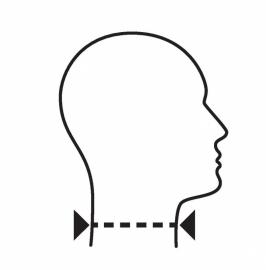 Halskraag - Nekbrace Ortel C1 Anatomic 9 cm hoog