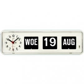 Tafelmodel Kalenderklok BQ-38 Wit